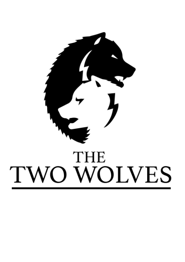 The two wolves logo